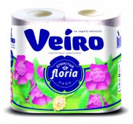 Туалетная бумага Veiro floria 4шт.