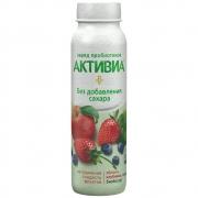 Йогурт Активиа яблоко, клубника, черника 260гр.