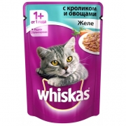 Консервы whiskas желе кролик и овощи 100гр.