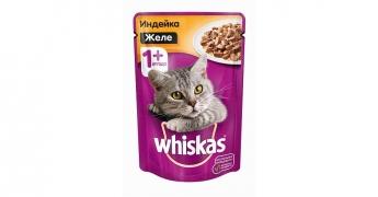 Консервы whiskas желе индейка 100гр.