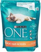 Purina one для взрослых кошек с курицей 750гр.