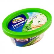 Творожный Сыр Hochland с зеленью 140гр.